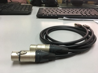 Canare L2T2S XLR Female to RCA Audio Cable Img_0117