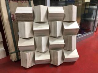 Acoustic Diffuser Panels - Triangular Diffuser 60cm x 60cm Img_0713