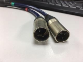 XLR Female Jack to Dual Male Plug Y Splitter Adapter Cord (used) Img_3418