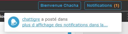Plus d'affichage des notifications dans la Toolbar Captu336