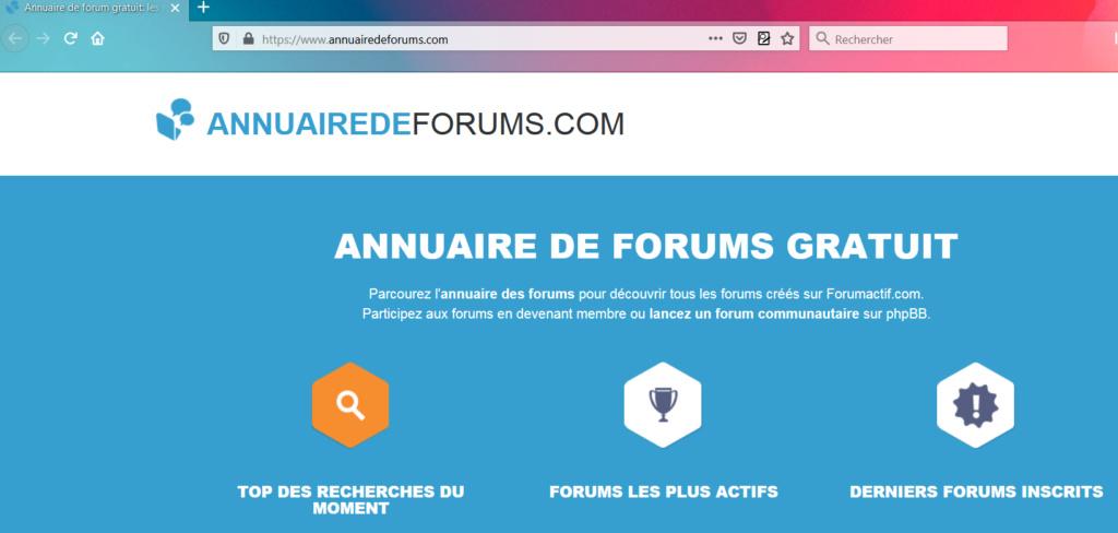 connection annuaire des forums Captu480