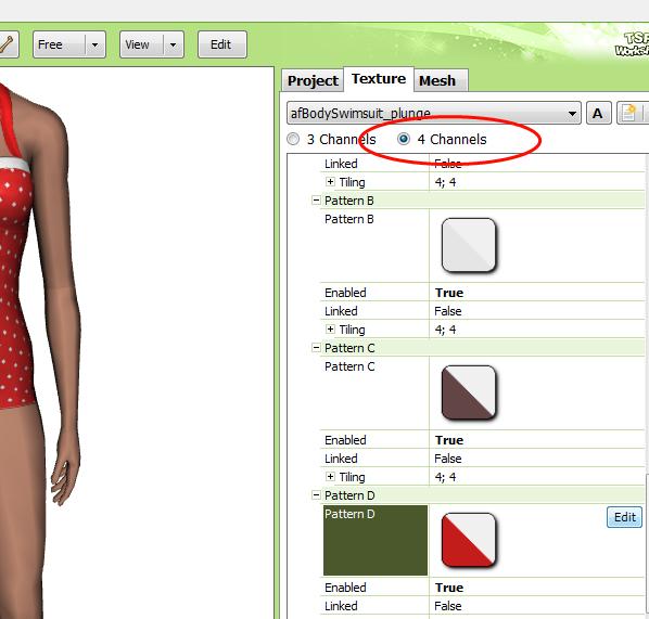 [Fiche] Créer vos vêtements - Insérer une quatrième zone recolorable à un vêtement avec Photoshop en format dds  310