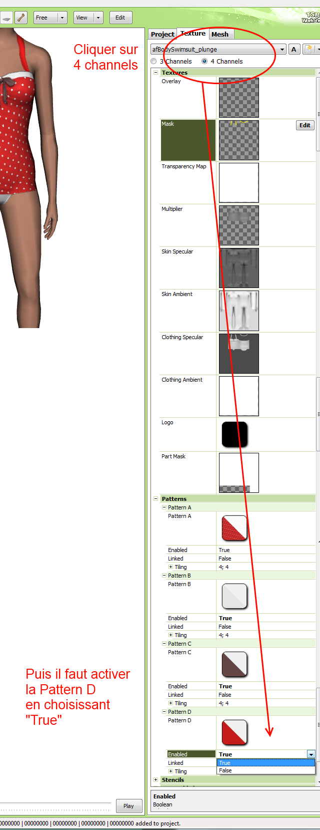 [Fiche] Créer vos vêtements - Insérer une quatrième zone recolorable à un vêtement avec Photoshop en format dds  710