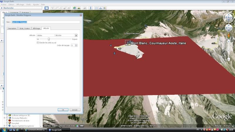 Comment afficher un plan horizontal reliant tous les points d'une altitude X ? [Problème Google Earth résolu] Poly10