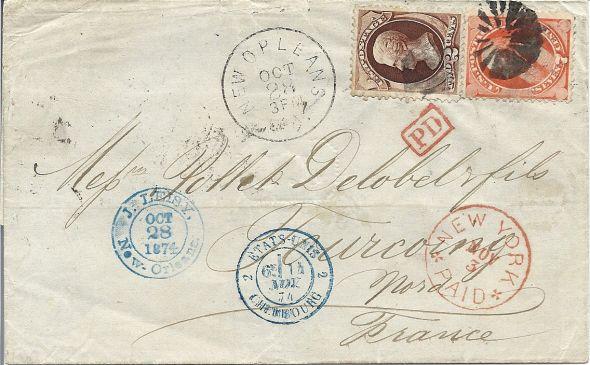 Entrée des Etats unis par cherbourg en 1874 Numari36