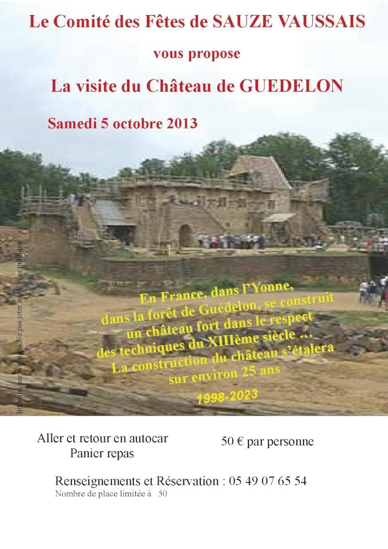Visite Guédelon Affich10