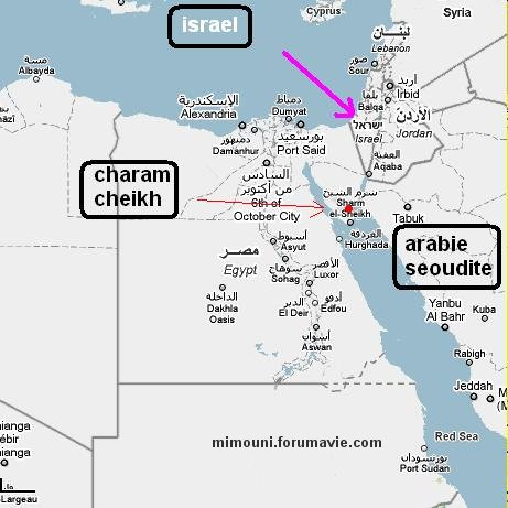 Senario Israelien pour Moubarak Map11