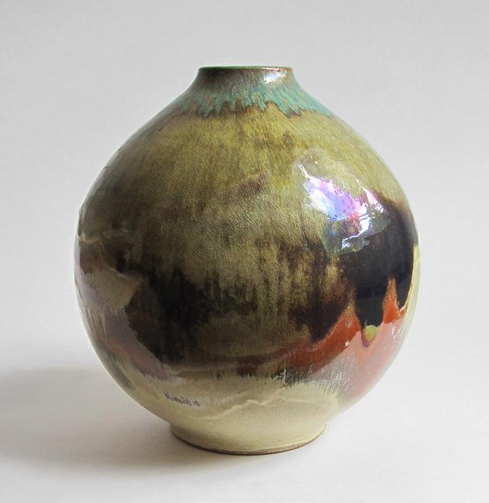 Big studio vase, beautiful glaze, probably German 1970s? Studio10