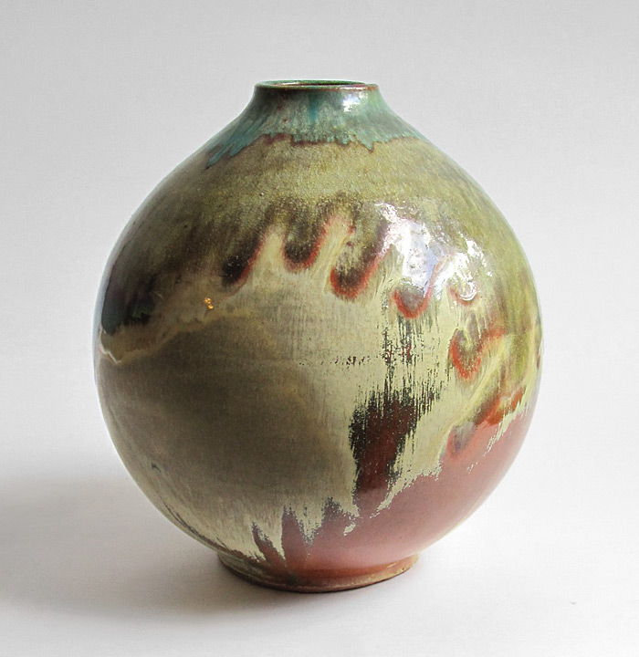 Big studio vase, beautiful glaze, probably German 1970s? Studio11