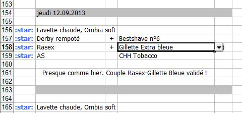 Outil à poster Excel pour le rasage du jour Captur10