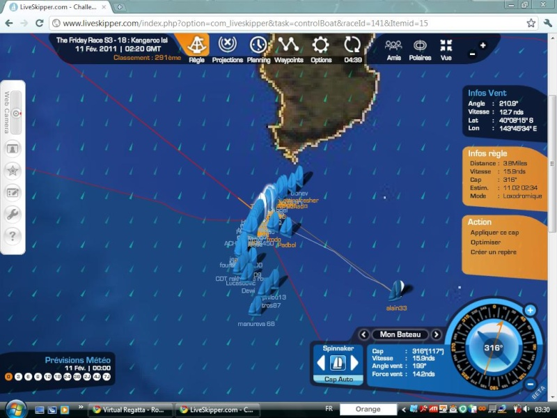 The Friday Race S3 - 18 : Kangaroo Island le 11/02/2011 à 01h00 GMT Easyc119
