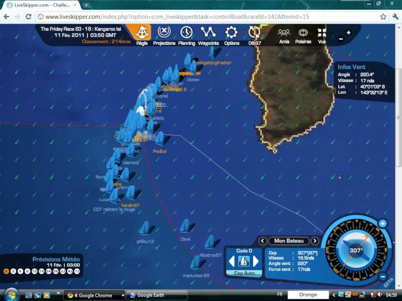 The Friday Race S3 - 18 : Kangaroo Island le 11/02/2011 à 01h00 GMT Easyc128