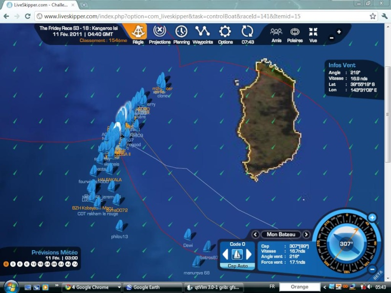 The Friday Race S3 - 18 : Kangaroo Island le 11/02/2011 à 01h00 GMT Easyc130