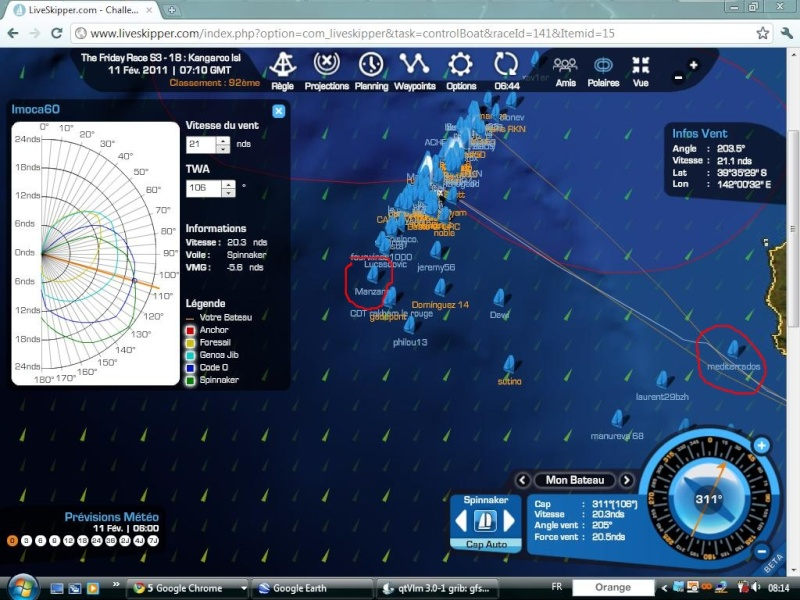 The Friday Race S3 - 18 : Kangaroo Island le 11/02/2011 à 01h00 GMT Easyc135