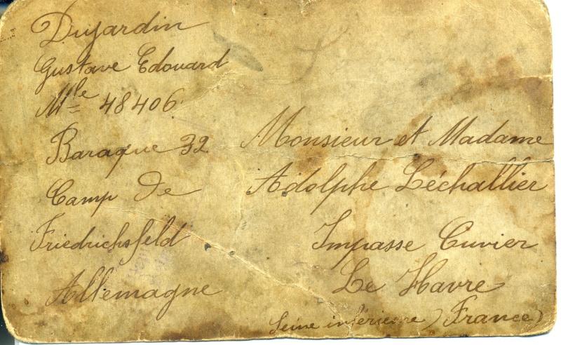 hautot - Havrais prisonniers en 14/18 Dos_ph11