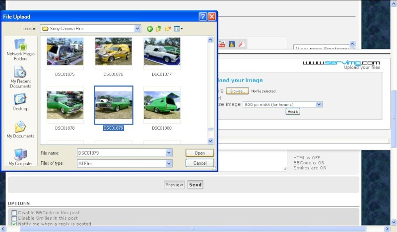 How to post pictures to the forum using the internal image host Upload11