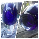 Heavy Two tone Glass vase, Lenox Art Glass by Kate Spade. Made in Poland. Photog10