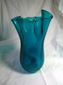 Large Blue Freeform ruffle vase identification Ruffle10