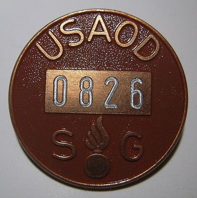 Badge identification ouvrier SAGINAW STEERING GEAR? ou pas. Usaod10