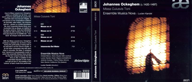 Johannes Ockeghem (v. 1420 - 1497) Cover110