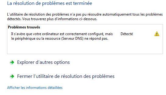 problème de connexion internet avec un serveur proxy TT Probla10