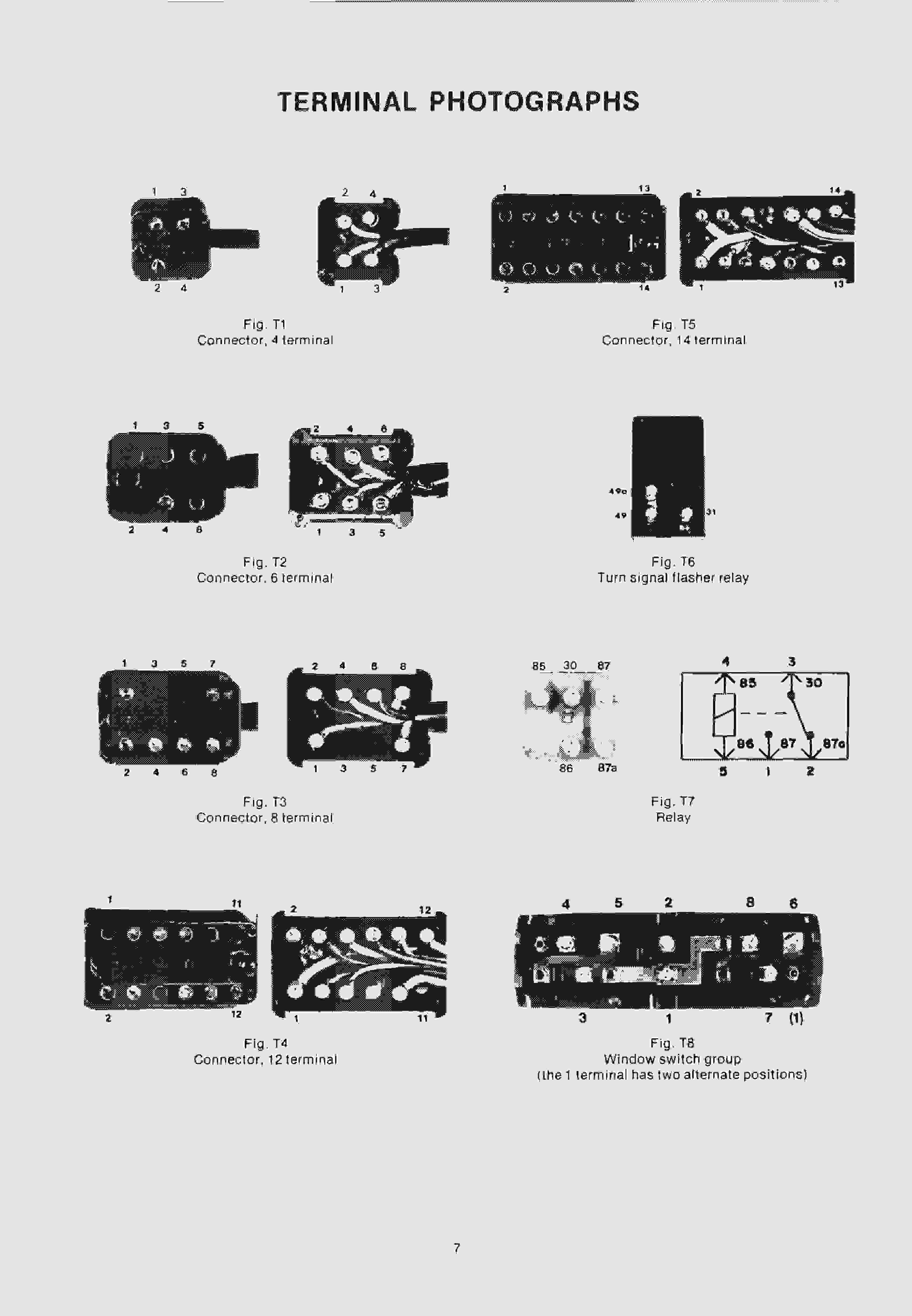 W114/115 - обозначения на эл.схемах, разъемы, цвета проводов... 710