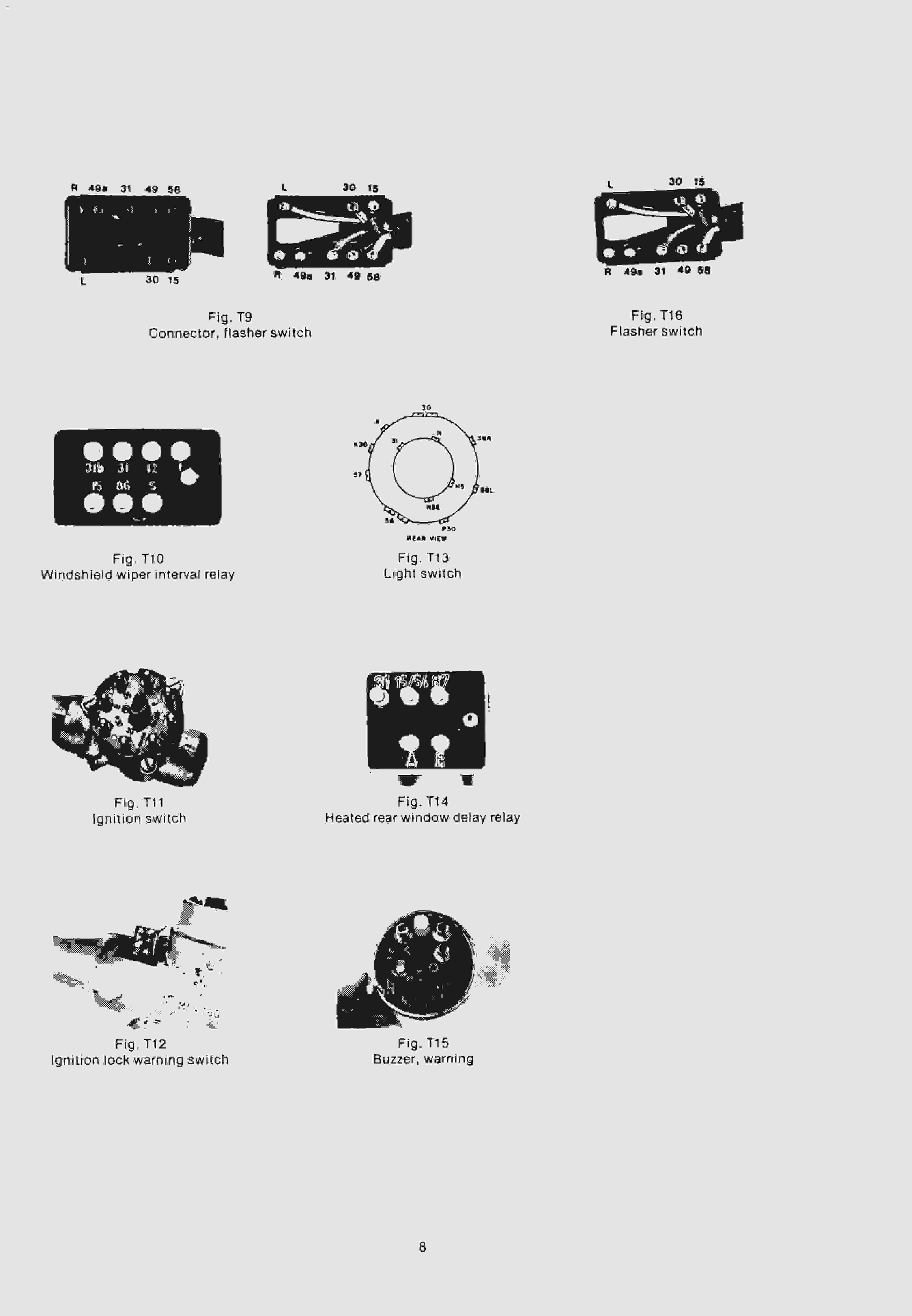 W114/115 - обозначения на эл.схемах, разъемы, цвета проводов... 810