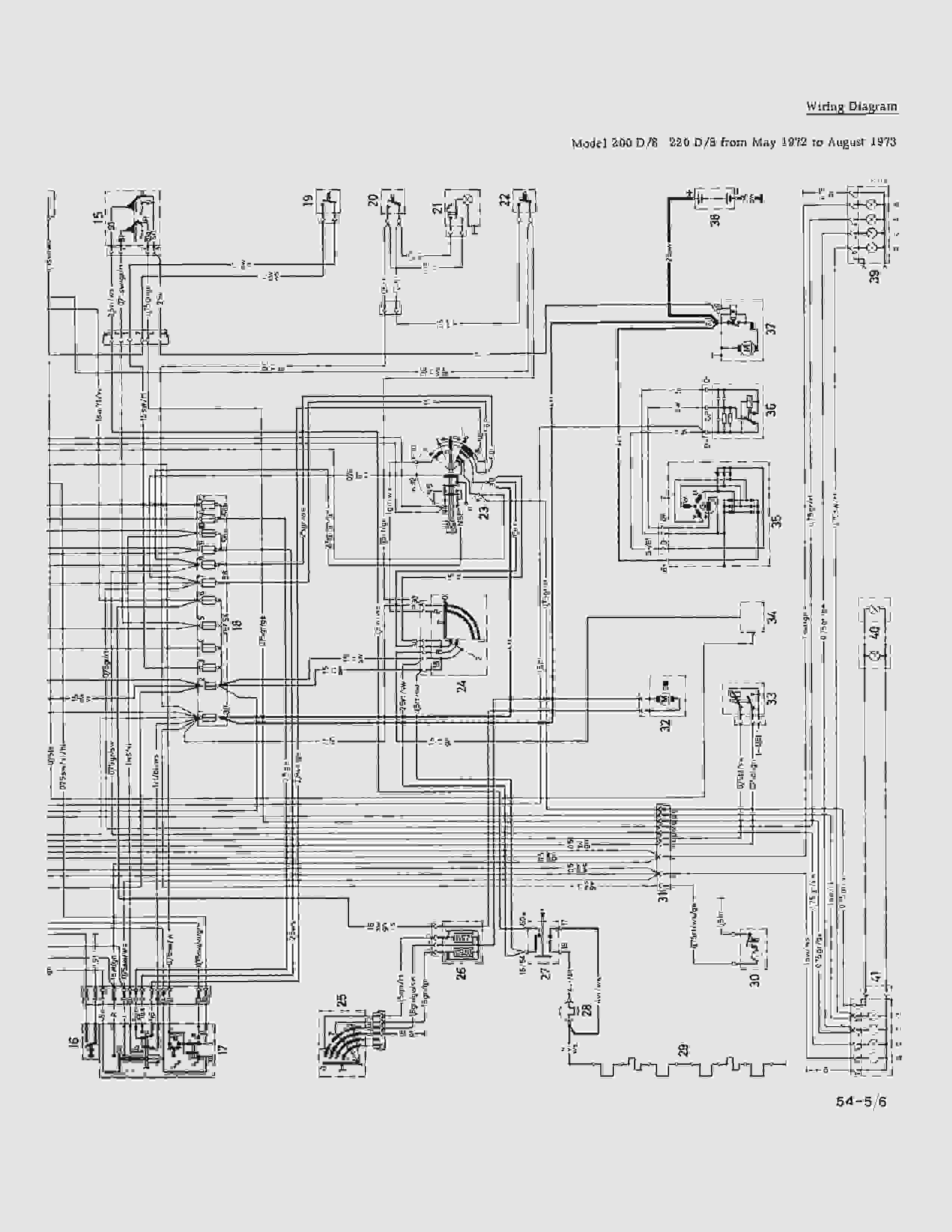W115 220D электрическая схема (последняя серия). Nndudd13