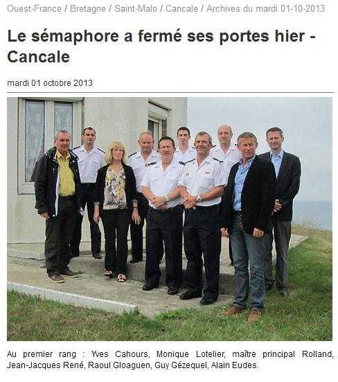 SÉMAPHORE - LE GROIN (ILLE ET VILAINE) G10