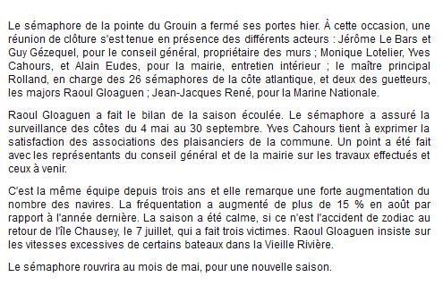 SÉMAPHORE - LE GROIN (ILLE ET VILAINE) G110
