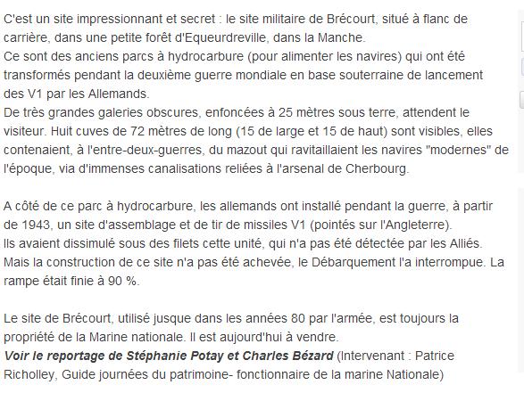 LE SITE DE BRECOURT A EQUEURDREVILLE (50) Zz110
