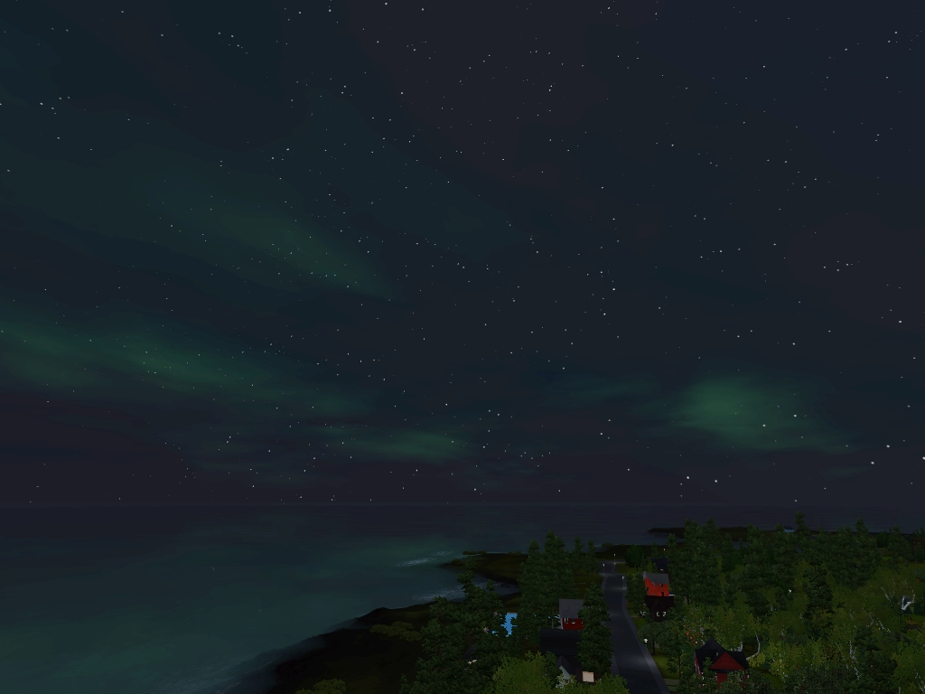 Monde sims : Aurora Skies Screen23