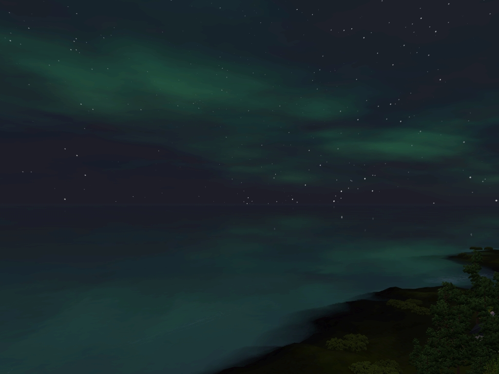 Monde sims : Aurora Skies Screen25