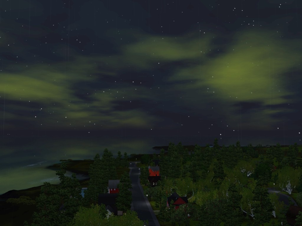 Monde sims : Aurora Skies Screen27