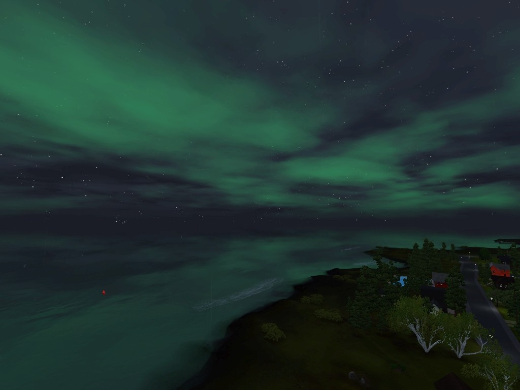 Monde sims : Aurora Skies Screen30