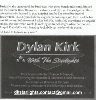 Dylan Kirk with the Starlights  Dk10