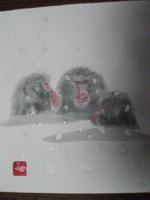 Shikishi board for winter Img_3022