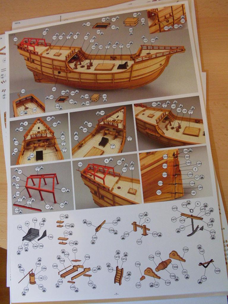 Karavelle Pinta 1:96 Shipyard Nr. 37  Sdc13463