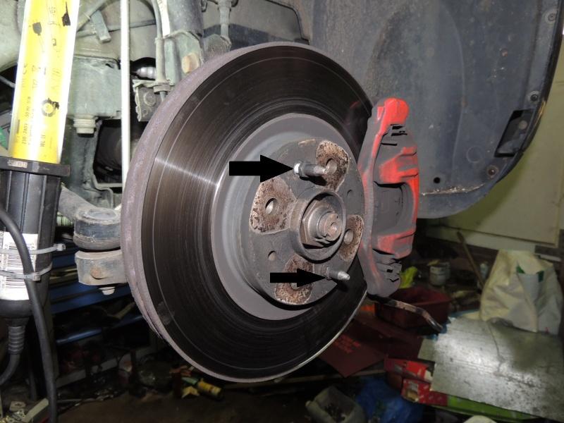 changement disque et plaquettes de frein avant Dscn5218