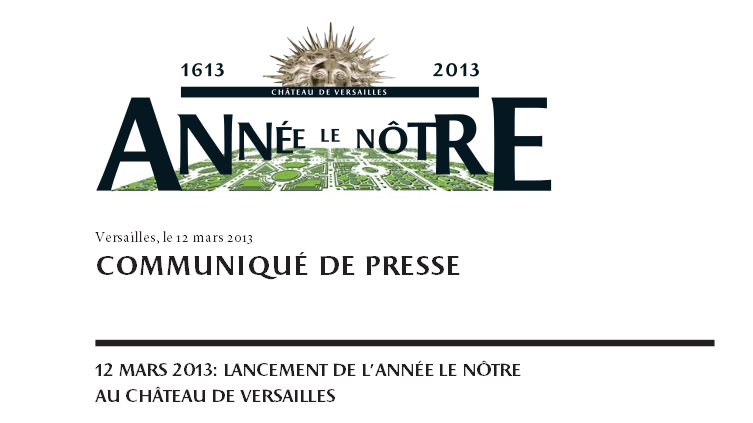 Exposition et Année André Le Nôtre à Versailles en 2013 Captur31
