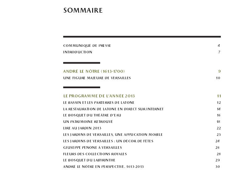 Exposition et Année André Le Nôtre à Versailles en 2013 Captur32