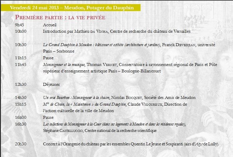 Monseigneur le Dauphin, fils de Louis XIV Colloque 24-25 mai Captur82