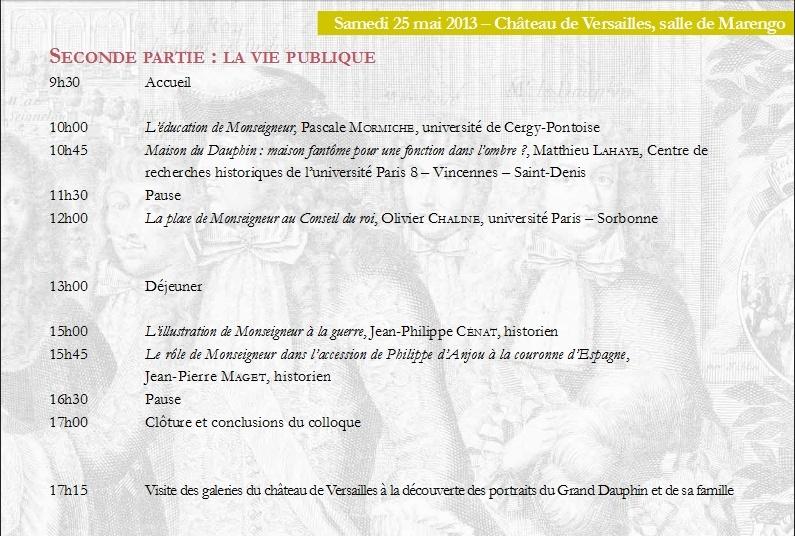 Monseigneur le Dauphin, fils de Louis XIV Colloque 24-25 mai Captur83