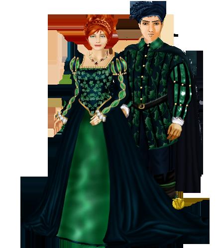 Anoblissement ? Non ! Anoblissements ! Cérémonie pour Arnaut, Carlotta Isabel et Loguen Couple11