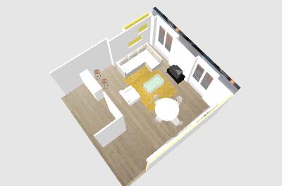 Aménagement salon - salle à manger. Papewa10