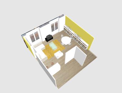 Aménagement salon - salle à manger. Papewa11