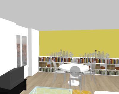 Aménagement salon - salle à manger. Papewa13