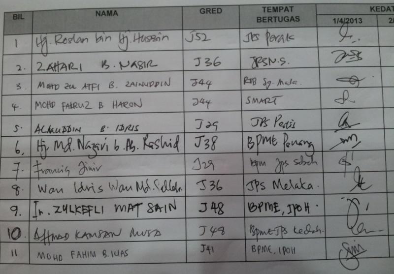 Lab Pemantapan Pelaksanaan Keselamatan dan Kesihatan Pekerjaan JPS Malaysia (sesi 2) 127
