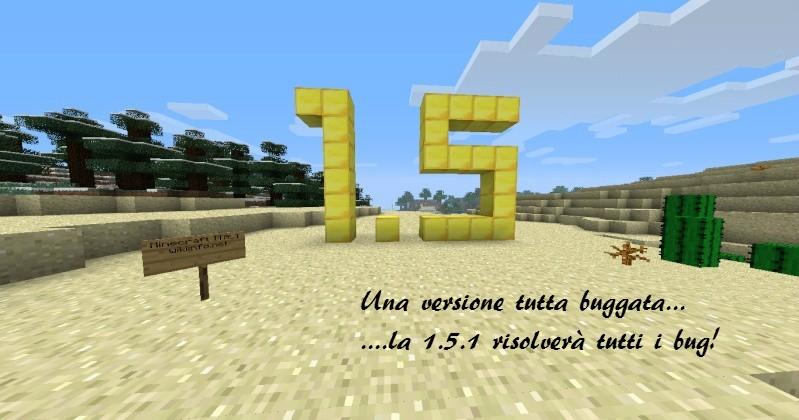 A breve l'aggiornamento 1.5.1 di Minecraft 101ee10