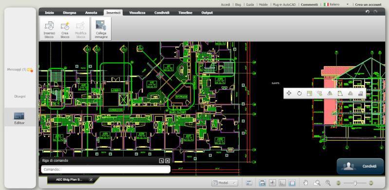 Lavorare su AutoCAD a costo zero tramite il Browser - AutoCAD WS 291kc910
